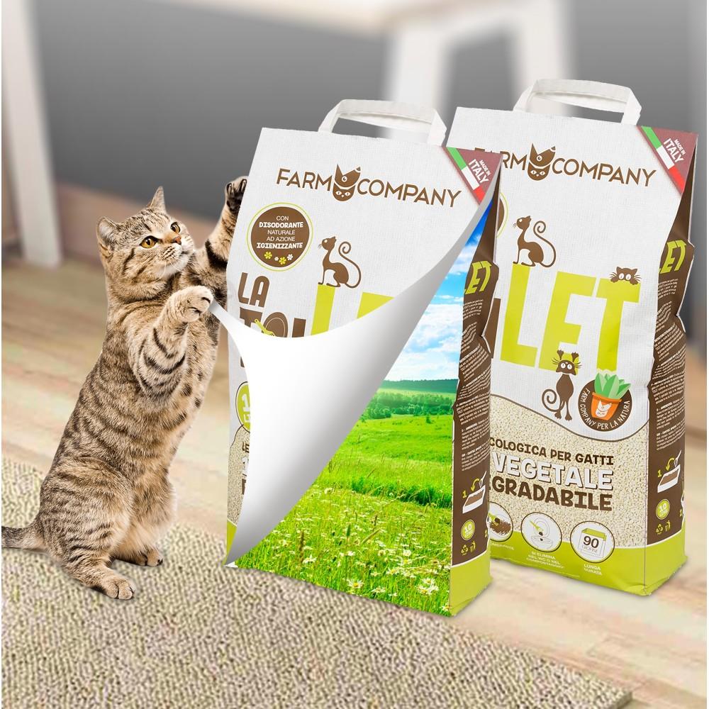 Farm Company Βιοδιασπώμενη Φυτική Άμμος Υγιεινής για Γάτες 10L