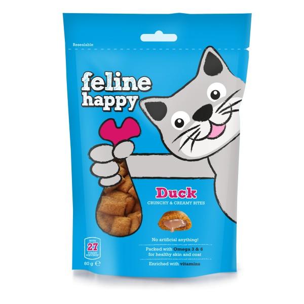 Λιχουδιές Γάτας Feline Happy με Πάπια 60gr