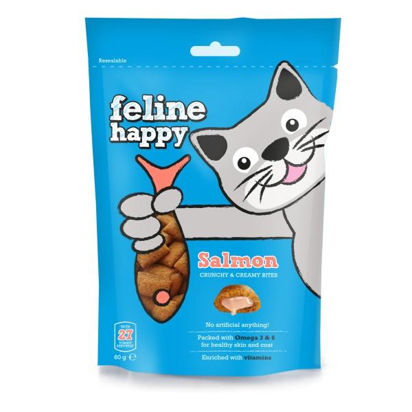Λιχουδιές Γάτας Feline Happy με Σολωμό 60gr