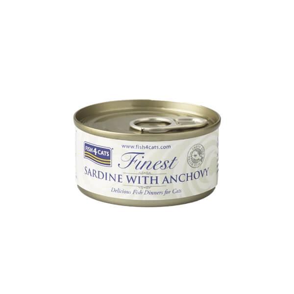 Fish4Cats Κονσέρβα Γάτας Finest Σαρδέλα με Γαύρο 70gr