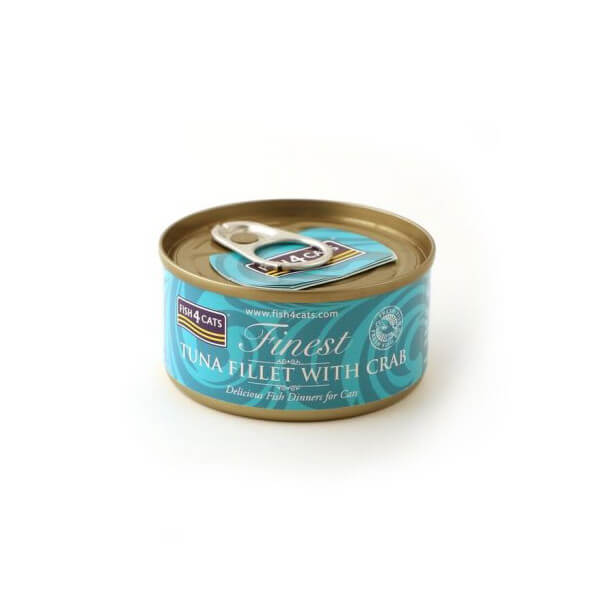 Fish4Cats Κονσέρβα Γάτας Finest Φιλέτο Τόνου με Καβούρι 70gr