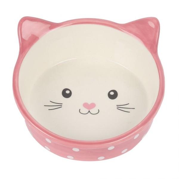 Μπολ Φαγητού-Νερού για Γάτα Πουά Ροζ