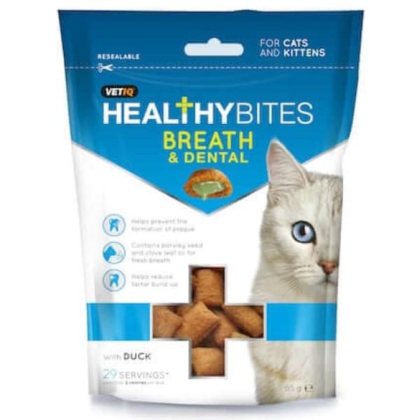 Λιχουδιές για Γάτες για Στοματική Φροντίδα και Δροσερή Αναπνοή 65gr