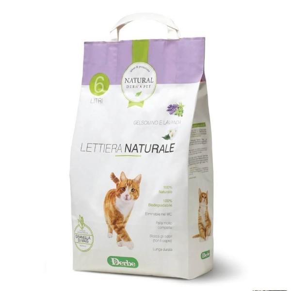 Natural Derma Pet Βιοδιασπώμενη Άμμος Υγιεινής για Γάτες από Καλαμπόκι με Άρωμα Γιασεμί και Λεβάντα 2,85kg