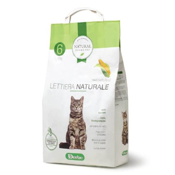 Natural Derma Pet Βιοδιασπώμενη Άμμος Υγιεινής για Γάτες από Καλαμπόκι 2,85kg