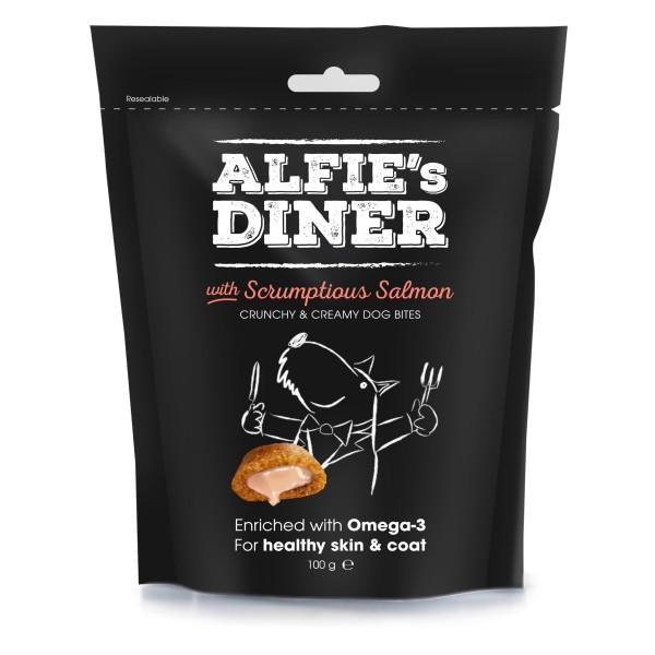Λιχουδιές Σκύλου Alfie's Diner με Τρυφερό Σολωμό 100g