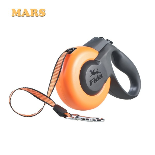 Πτυσσόμενος Οδηγός Σκύλου Fida Mars 5m Πορτοκαλί