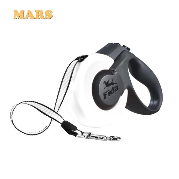 Πτυσσόμενος Οδηγός Σκύλου Fida Mars 5m Λευκό