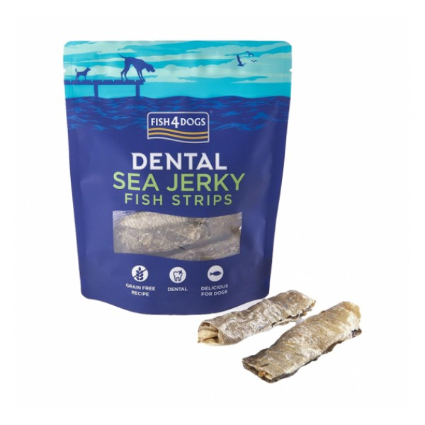 Fish4Dogs Λιχουδιές Σκύλου Sea Jerky Fish Strips 100gr