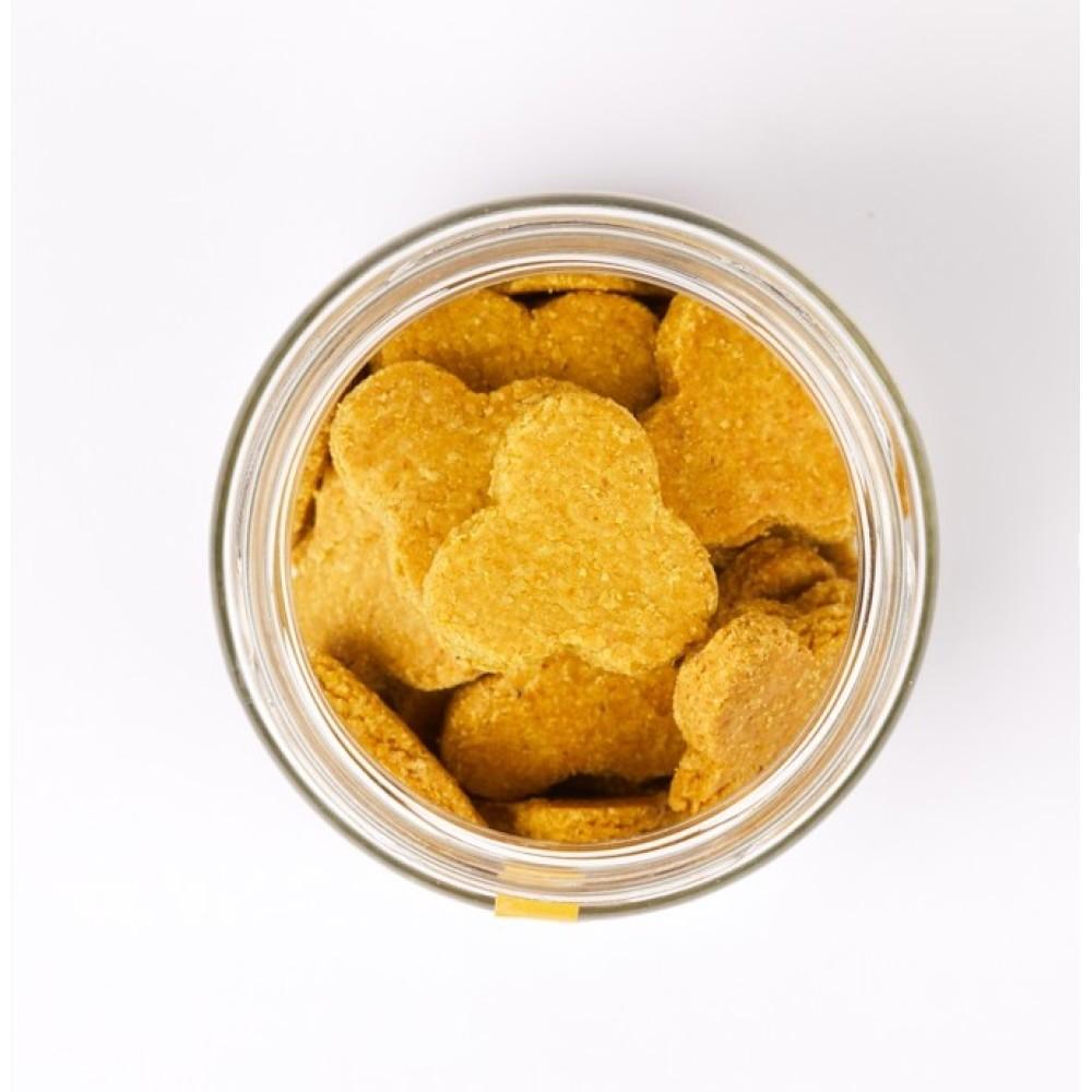 Peteat Χειροποίητες Λιχουδιές Καλημέρας για Σκύλους Μοσχάρι - Κουρκουμάς χωρίς Γλουτένη