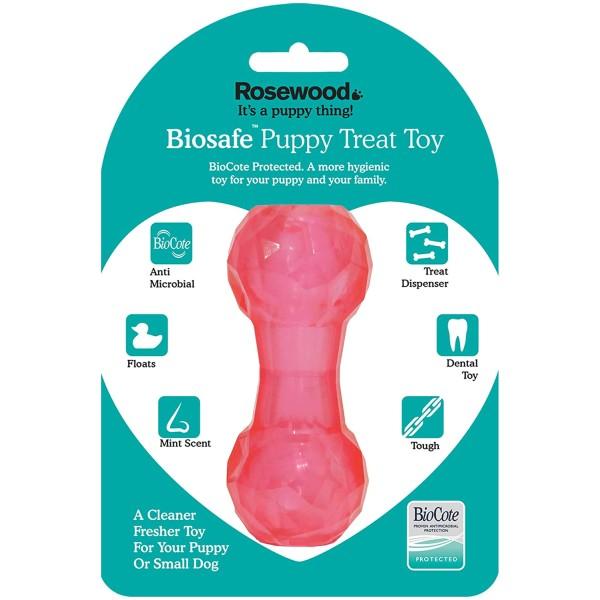 Παιχνίδι για Κουτάβια Αντιμικροβιακό - Biosafe Puppy Pink Dumbell