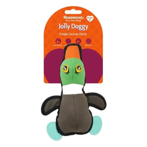 Παιχνίδι Σκύλου Jolly Doggy Tough Canvas Duck with Rubber Feet