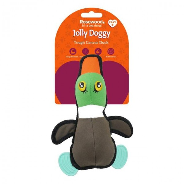 Παιχνίδι Σκύλου Jolly Doggy Tough Canvas Duck with Rubber Feet