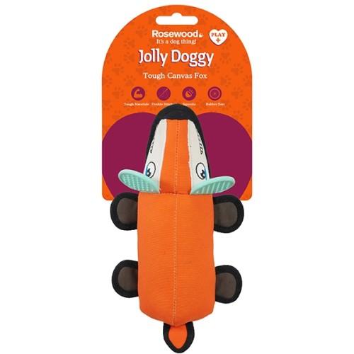 Παιχνίδι Σκύλου Jolly Doggy Tough Canvas Fox with Rubber Ears