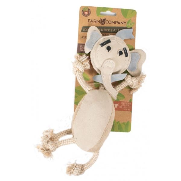 Οικολογικό Παιχνίδι Σκύλου Green Toys Leather Jute Elephant