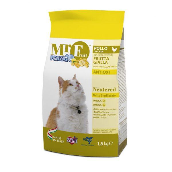 Forza10 MR. Fruit Neutered με Εκχύλισμα Κίτρινων Φρούτων για Στειρωμένες Γάτες