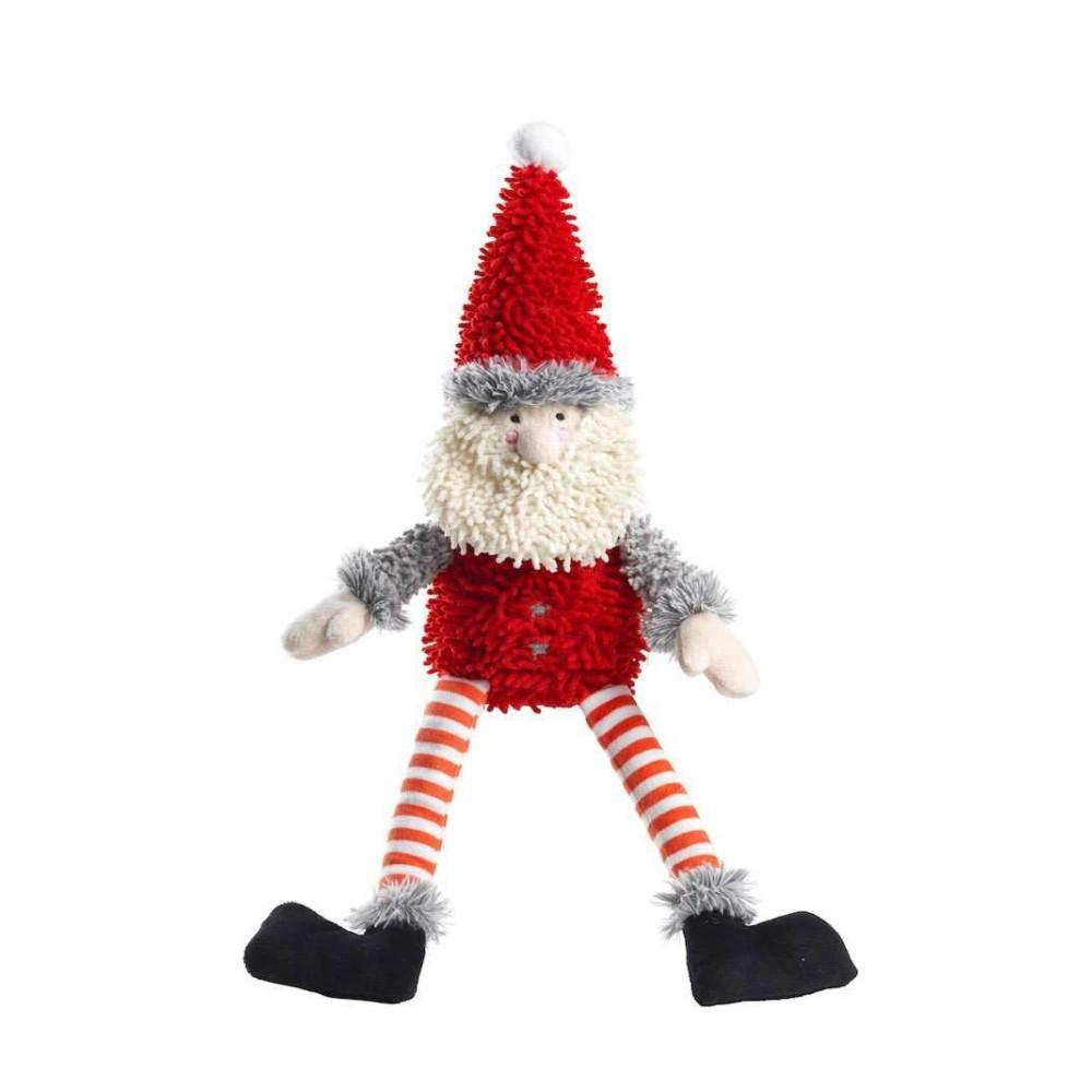 Χριστουγεννιάτικο Παιχνίδι Σκύλου Silent Night Squeaker Free Santa Fuzzy