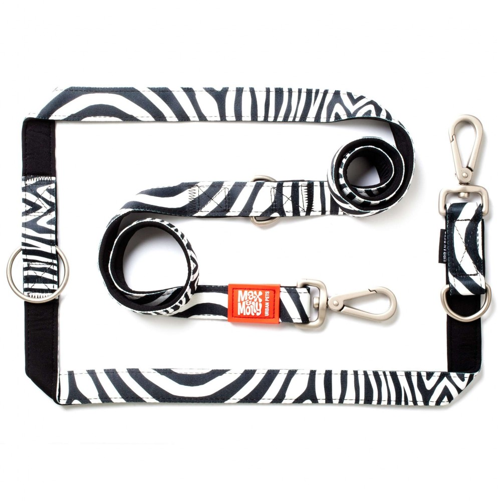 Οδηγός Περιπάτου Σκύλου Max & Molly Multi Function Zebra