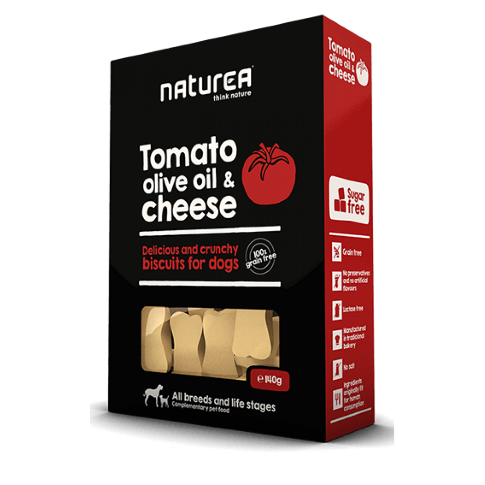 Naturea Μπισκότα Σκύλου Tomato, Olive Oil & Cheese 140gr