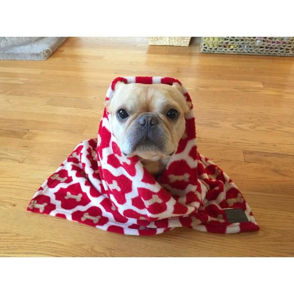 Κουβέρτα Fleece για Κατοικίδια - Red Bone
