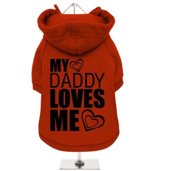 Κόκκινο Φούτερ για Σκύλους My Daddy Loves Me