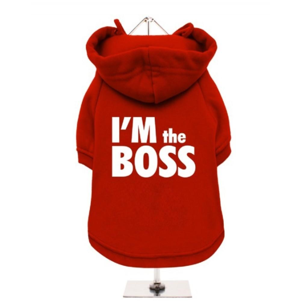 Κόκκινο Φούτερ για Σκύλους I'm the Boss