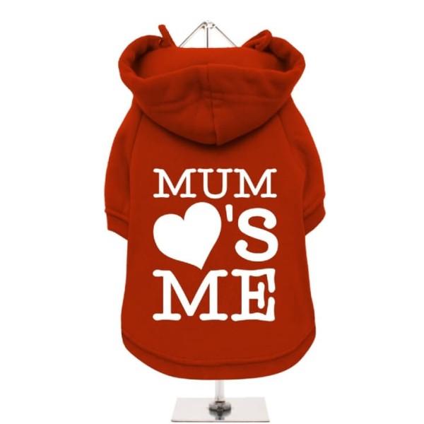 Κόκκινο Φούτερ για Σκύλους Mum Loves Me