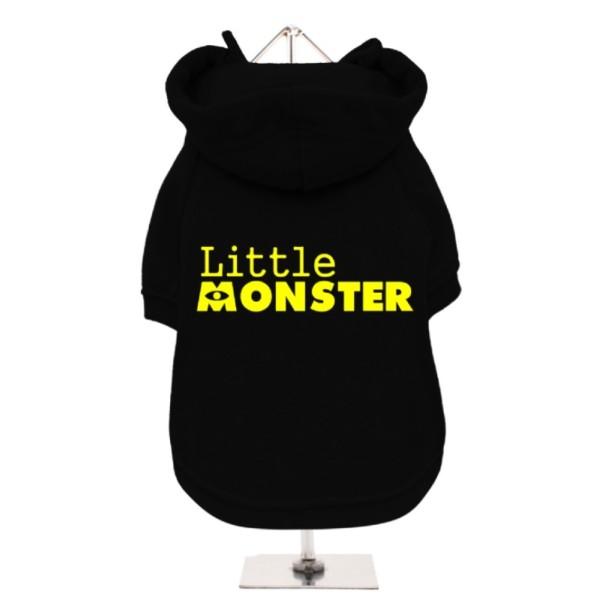 Μαύρο Φούτερ για Σκύλους Little Monster