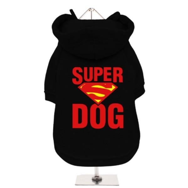 Μαύρο Φούτερ για Σκύλους Super Dog