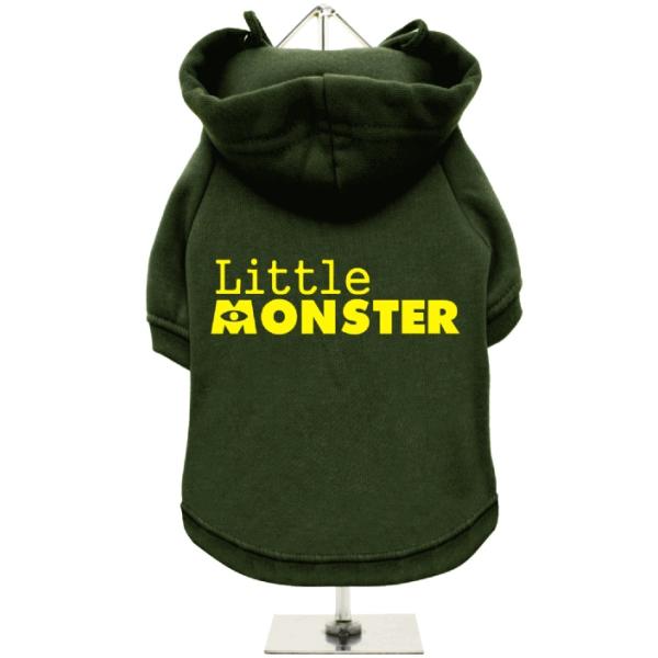Πράσινο Φούτερ για Σκύλους Little Monster
