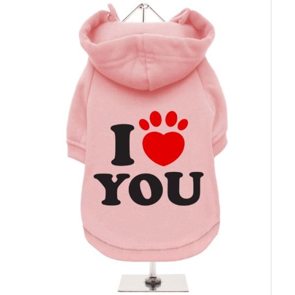 Ροζ Φούτερ για Σκύλους I Love You
