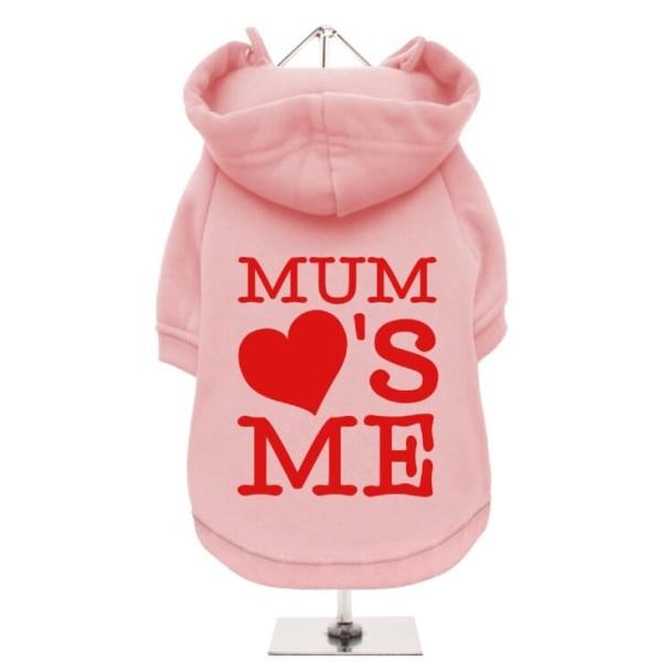 Ροζ Φούτερ για Σκύλους Mum Loves Me