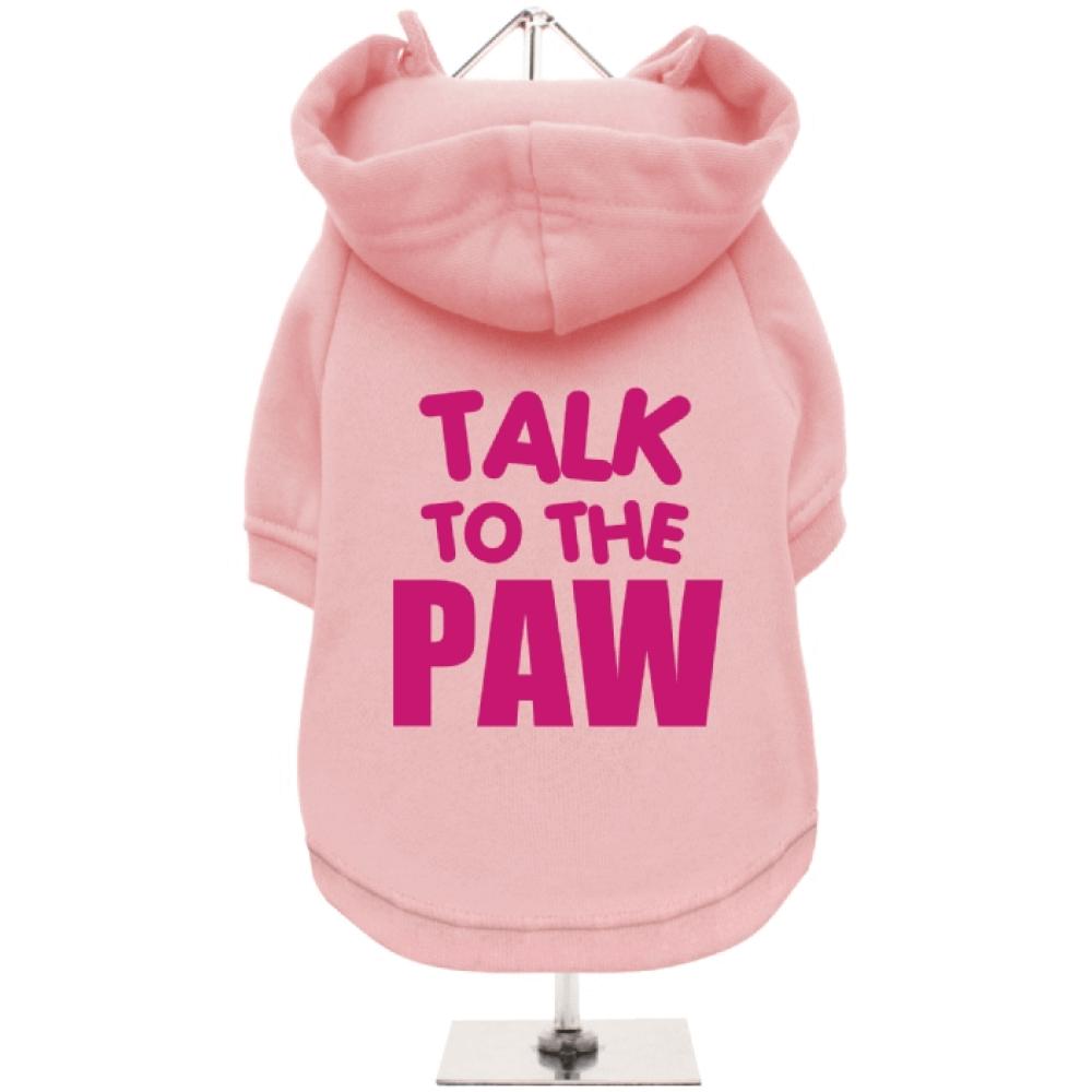 Ροζ Φούτερ για Σκύλους Talk to the Paw