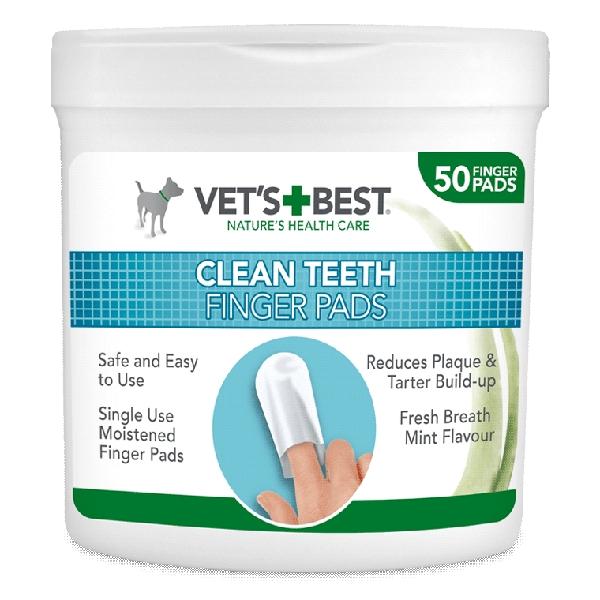 Vet's Best Μαντηλάκια Καθαρισμού Δοντιών Σκύλου 50pcs