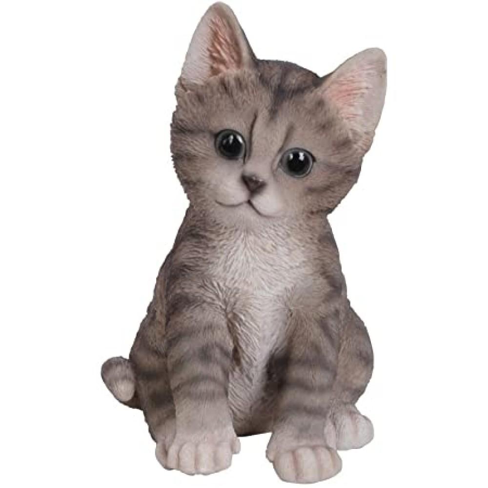 Διακοσμητικό Ομοίωμα Γάτας Real Life Grey Kitten