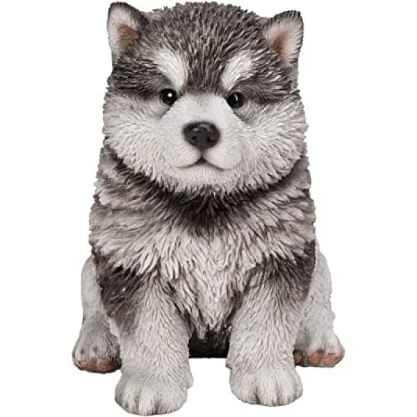 Διακοσμητικό Ομοίωμα Σκύλου Real Life Malamute Puppy
