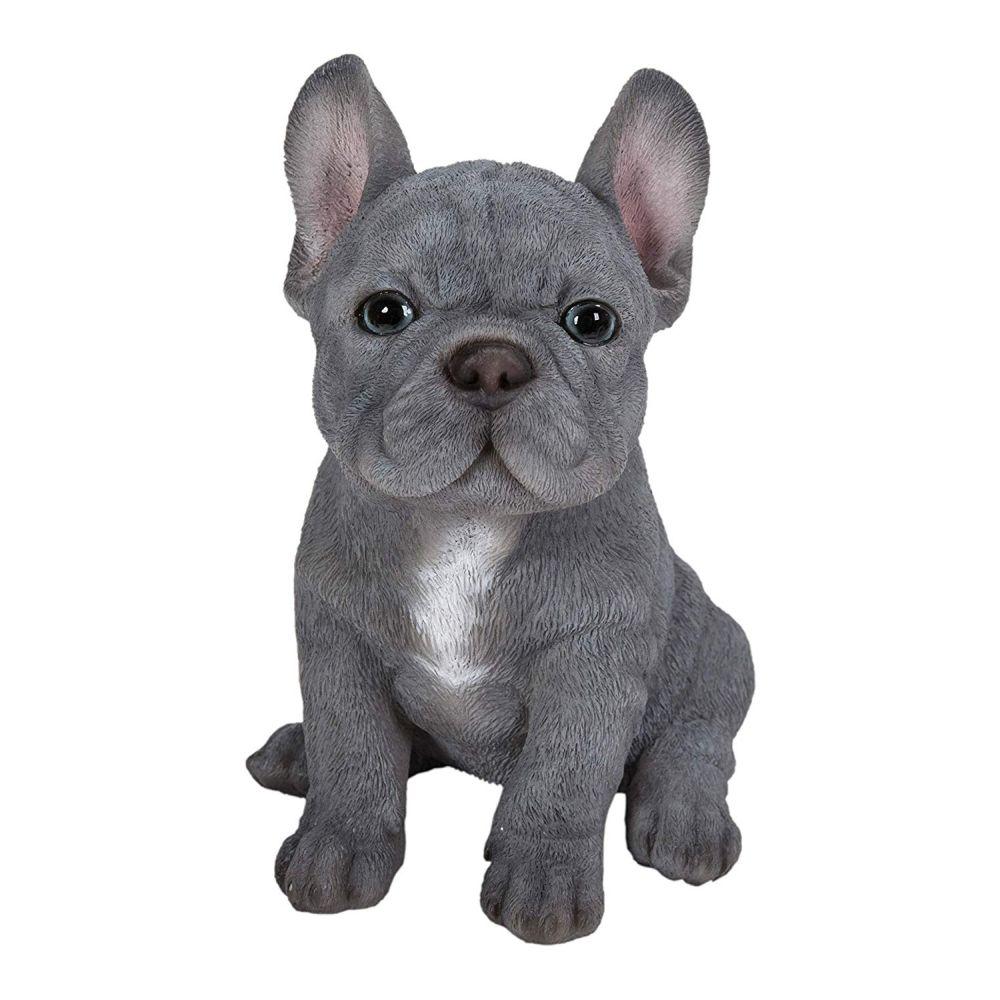 Διακοσμητικό Ομοίωμα Σκύλου Real Life Blue French Bulldog Puppy