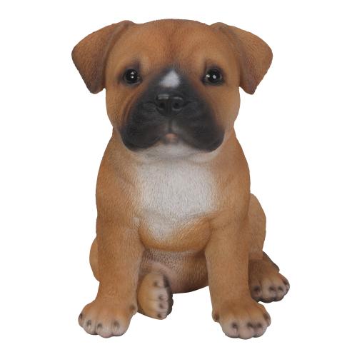 Διακοσμητικό Ομοίωμα Σκύλου Real Life Staffordshire Puppy