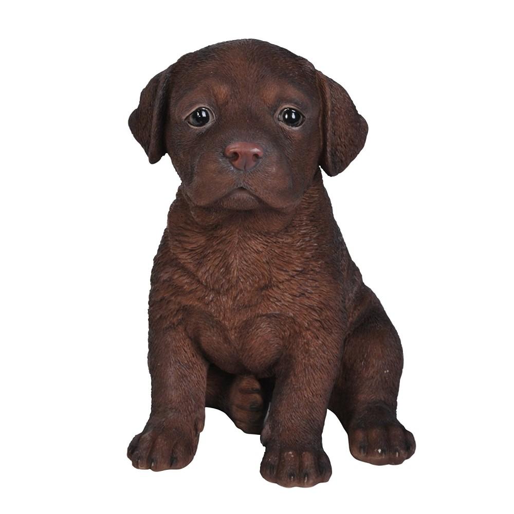 Διακοσμητικό Ομοίωμα Σκύλου Chocolate Labrador Puppy
