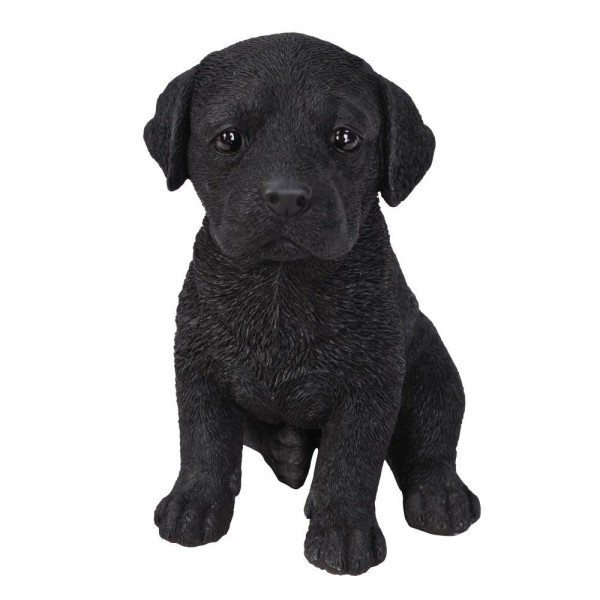 Διακοσμητικό Ομοίωμα Σκύλου Black Labrador Puppy