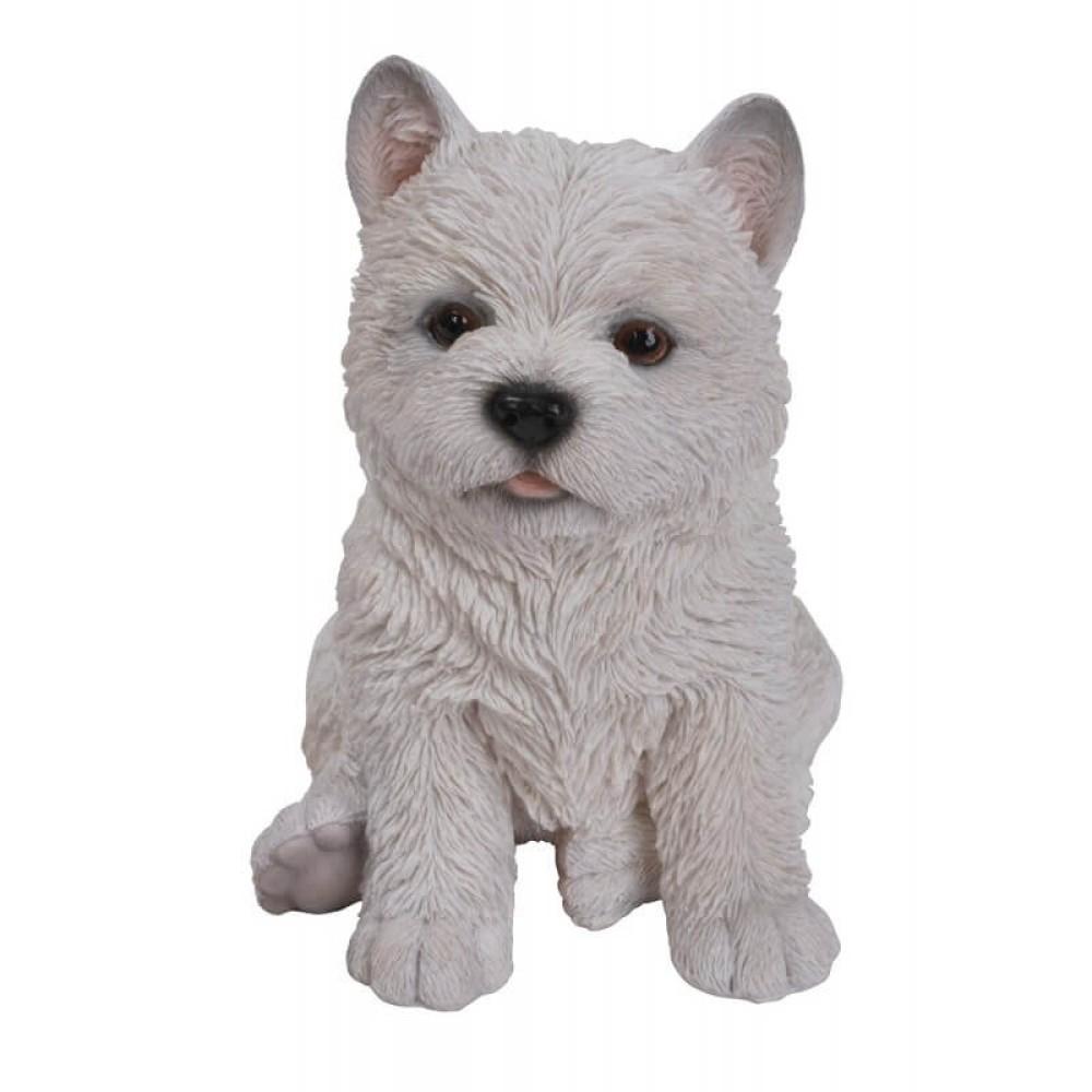 Διακοσμητικό Ομοίωμα Σκύλου Real Life West Highland Terrier Puppy