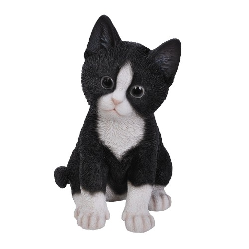 Διακοσμητικό Ομοίωμα Γάτας Real Life Black and White Kitten