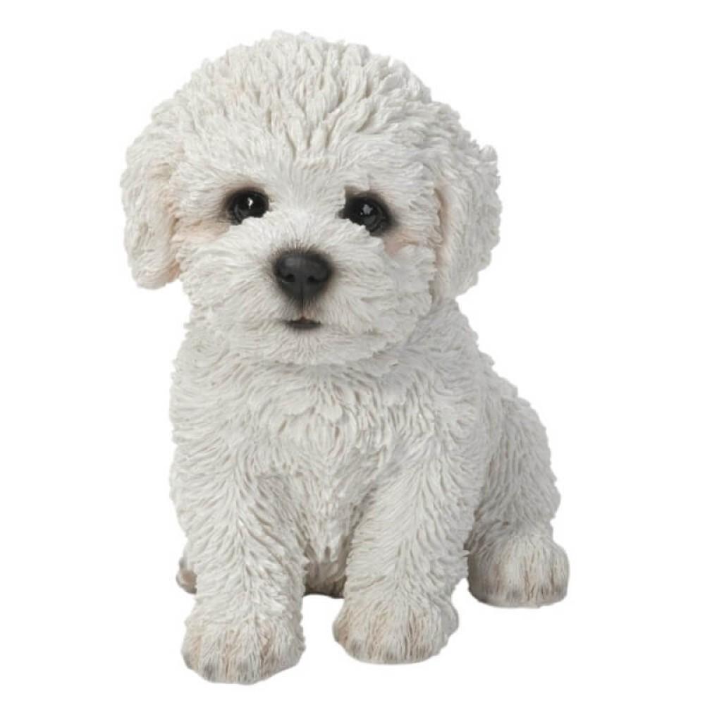 Διακοσμητικό Ομοίωμα Σκύλου Real Life Bichon Frise Puppy
