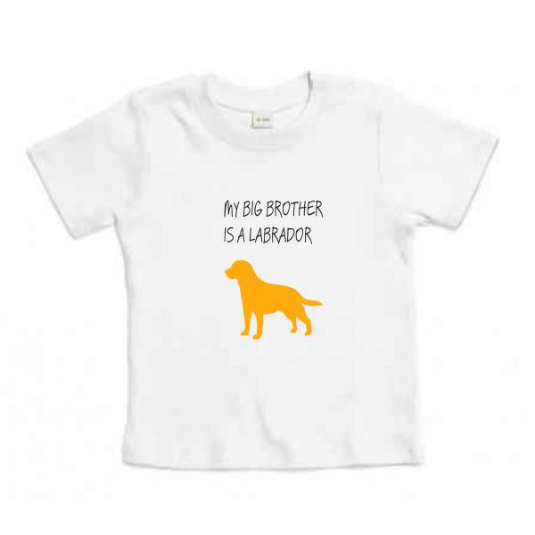 Βρεφικό Οργανικό T-shirt Labrador Κίτρινο