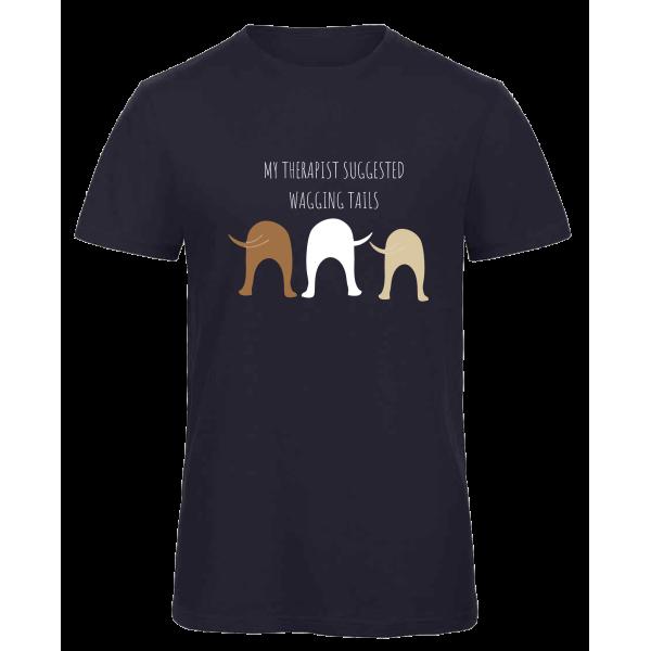 Ανδρικό Οργανικό T-shirt με τύπωμα Wagging Tails