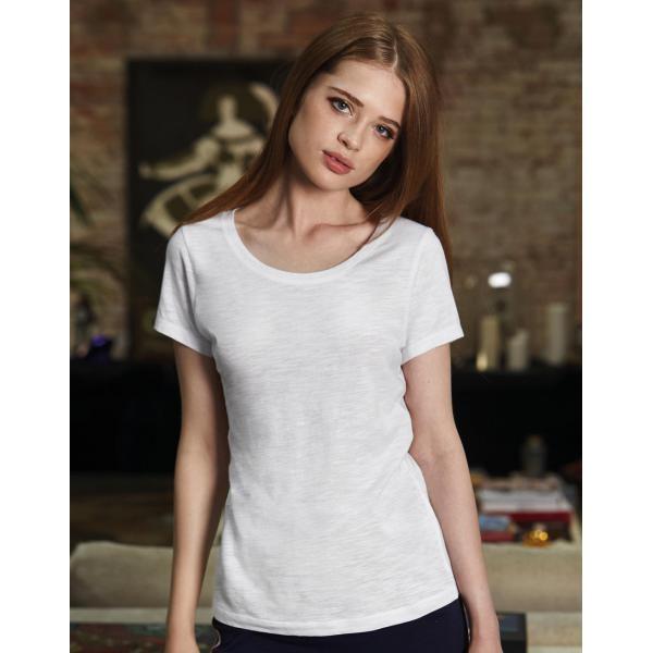 Επέλεξε το δικό σου τύπωμα σε Γυναικείο Οργανικό T-shirt φλάμα με χαμόγελο