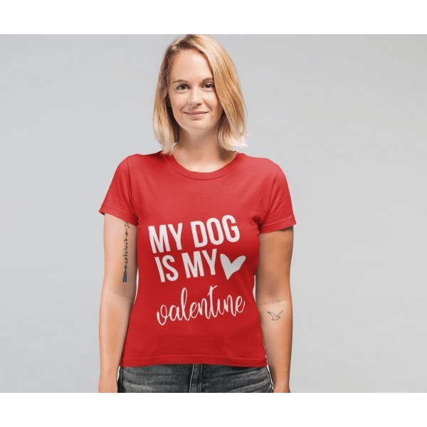 Γυναικείο T-shirt My Dog is My Valentine